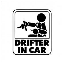 Sticker Abtibild autocolant DRIFTER IN CAR