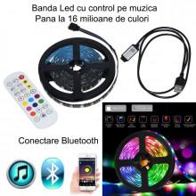 Kit Tv RGB Banda Led RGB cu Bluetooth Lumina ambientala - aplicatie telefon - joc de lumini pe muzica