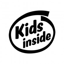 Sticker Abtibild autocolant *KIDS INSIDE*