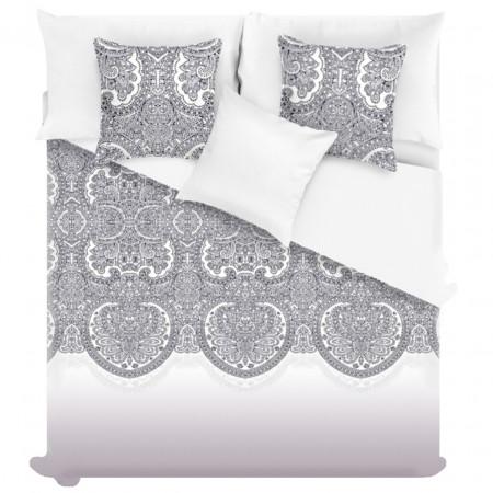 Cuvertura Lace, Fashion Goods, 200x220 cm, microfibra, alb/negru