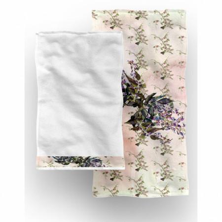 Set 2 prosoape de baie Madonna, Aglika, 50 x 100 cm/ 50 x 30 cm, 70% bumbac, 30% microfibra, multicolor