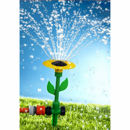 Stropitoare pentru gradina Flower, 11 x 34.6 cm, plastic, verde/galben
