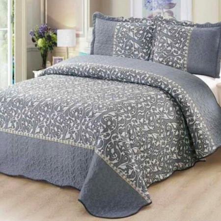 Cuvertura de pat + 2 Fete de Perne, Bumbac Tip Finet, Imprimata, Pat 2 persoane, CFI-57