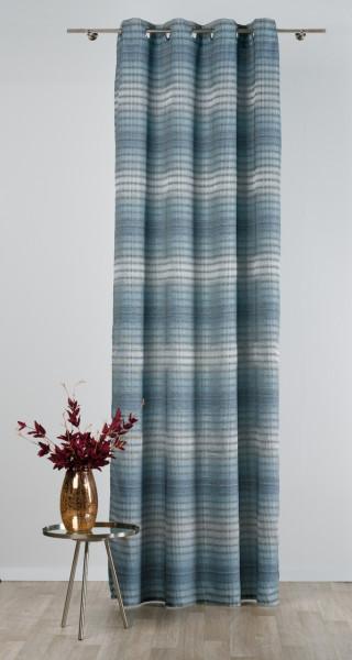 Draperie Mendola Interior, Brasil, 140x260 cm, poliester, albastru/gri