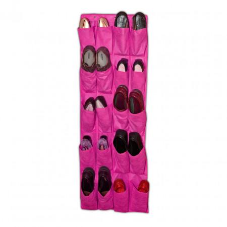 Organizator de pantofi Fuchsia, Jocca, 135 x 48 cm, PEVA, roz