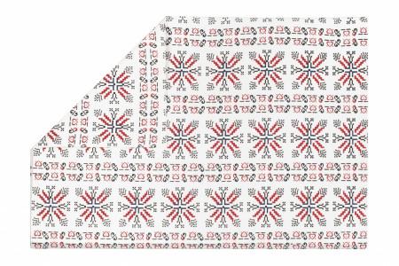 Suport pentru farfurie cu 2 fete, 33x48 cm, 100% bumbac, Traditional