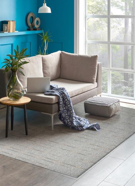 Covor Lanit Grey, Bedora, 120 x 160 cm, 100% polipropilena, gri