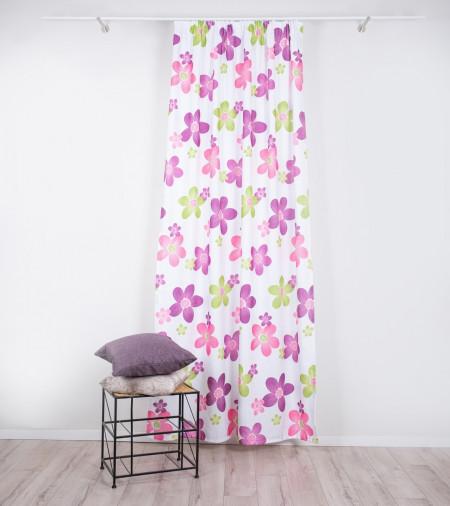 Draperie Imagine, Flower, 140x245 cm, poliester, mov