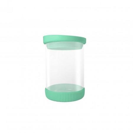 Recipient Green, Jocca, 480 ml, sticla/silicon, transparent/verde