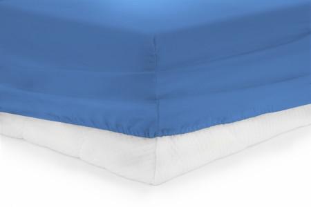 Cearceaf de pat cu elastic Blue Heinner, 140x200 cm, 100% bumbac, albastru