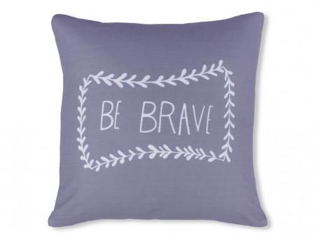 Fata de perna decorativa Be Brave, Fashion Goods, 45x45 cm, poliester, gri