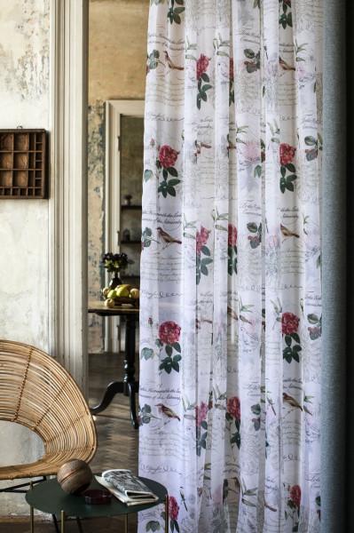 Perdea Mendola Interior, Birdy, 600x245 cm, poliester, roz