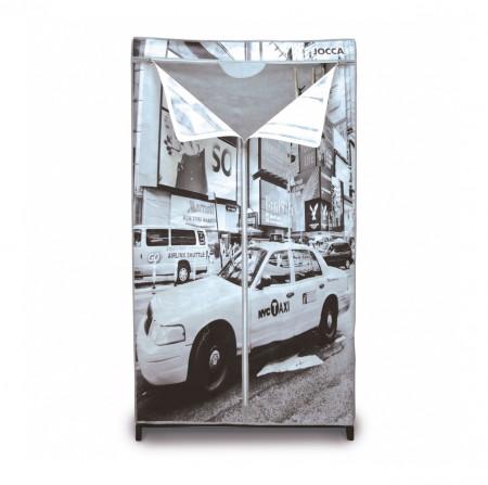Dulap pentru haine New York, Jocca, 156 x 46 x 87 cm, polipropilena/metal, gri