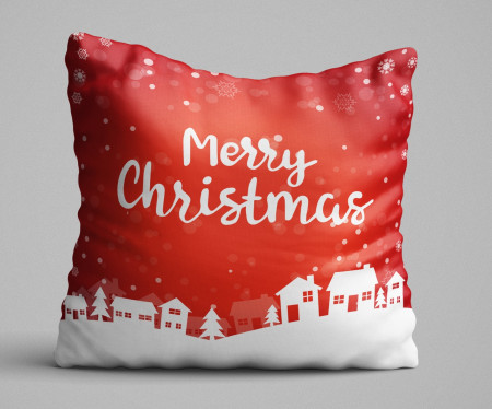 Perna decorativa, Christmas Decoration KRLNTXMAS-12, 43x43 cm, policoton