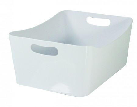 Cos de depozitare Jocca, 24x33.5x14 cm, plastic, alb