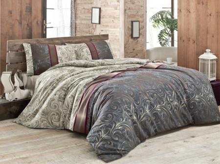 Lenjerie de pat pentru o persoana, Victoria, Hurrem v2 FR, 2 piese, policoton, multicolor