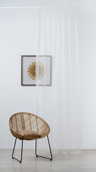 Perdea Imagine, Cristina, 140x245 cm, poliester, crem