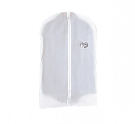 Set 2 huse pentru haine Jocca, 60x95 cm, PEVA, alb mat