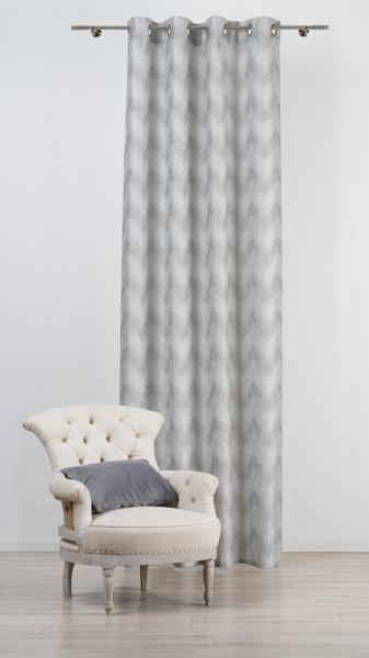 Draperie Mendola Interior, Portofino, 135x260 cm, poliester, gri argintiu