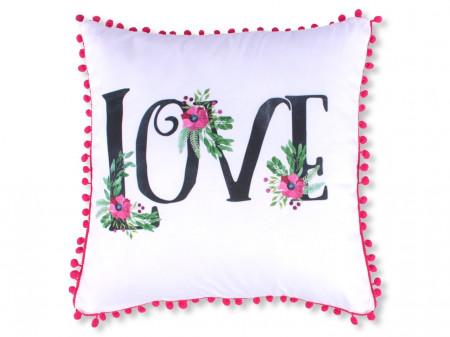 Fata de perna decorativa Love, Fashion Goods, 45x45 cm, poliester, multicolor