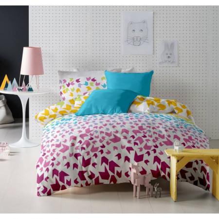 Lenjerie de pat dubla King Size Loving Matisse V.1 Aquarius, 6 piese, 220x250 cm, 100% bumbac, multicolora