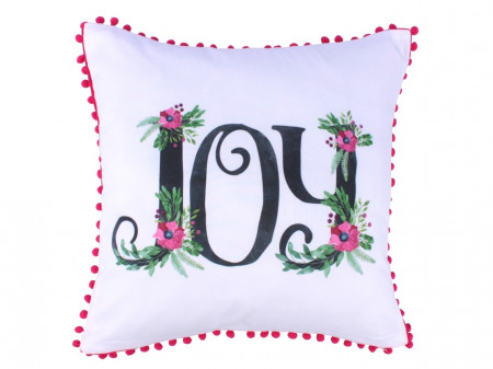 Fata de perna decorativa Joy, Fashion Goods, 45x45 cm, poliester, multicolor
