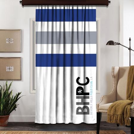 Draperie Beverly Hills Polo Club, 140x260, 100% poliester, Dark Blue/Grey/White