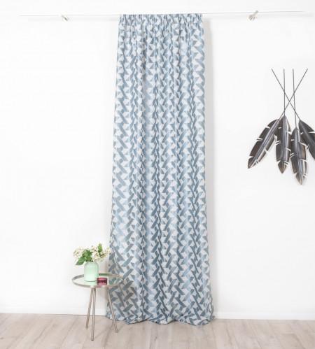 Draperie Mendola Interior, Sandine, 140x245 cm, poliester, albastru