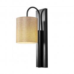 Aplica de perete, Opviq, Baston 3461, 10x42 cm, E27, 100 W, negru/bej