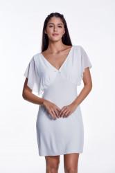 Camasa de noapte Luisa Moretti, LMS-3001, 100% bambus, argintiu, marimea 42/44 - L