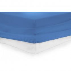 Cearceaf de pat cu elastic Blue Heinner, 90x200 cm, 100% bumbac, albastru