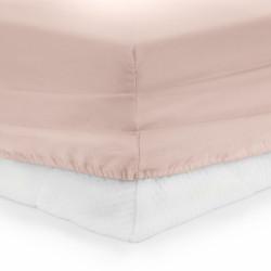 Cearceaf de pat cu elastic Pink Heinner, 180x200 cm, 100% bumbac, roz