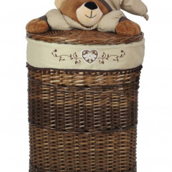 Cos XL Bear Bedora, salcie/material textil, multicolor