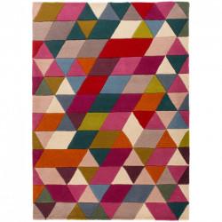 Covor Prism Pink/Multi, Flair Rugs, 120x170 cm, 100% lana, multicolor