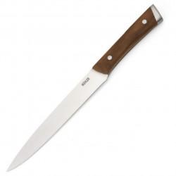 Cutit pentru feliat Muhler, MR-25020SS, 20 cm, inox/lemn de frasin