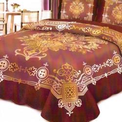 Cuvertura de pat + 2 Fete de Perne, Bumbac Tip Finet, Imprimata, Pat 2 persoane, CFI-10
