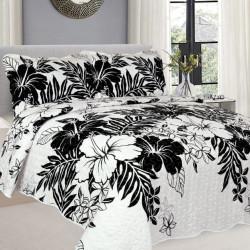 Cuvertura de pat + 2 Fete de Perne, Bumbac Tip Finet, Imprimata, Pat 2 persoane, CFI-77