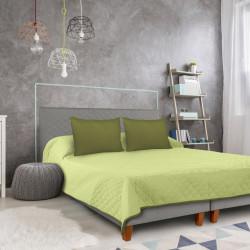 Cuvertura matlasata cu 2 fete Alcam, 210 x 220 cm, Olive/Lime