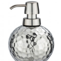 Dozator sapun lichid Lunas, Wenko, 500 ml, ceramica, argintiu