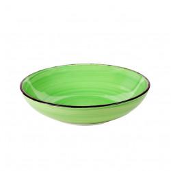 Farfurie adanca Gala Green, Heinner, Ø20 cm, ceramica, verde