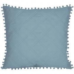 Fata de perna Pompoo Szara, Fashion Goods, 45x45 cm, poliester, albastru