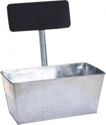 Ghiveci cu tablita Excellent Houseware, 26x12.5x12.5 cm, zinc