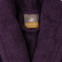 Halat de baie unisex, Beverly Hills Polo Club, 100% bumbac, M/L, Purple