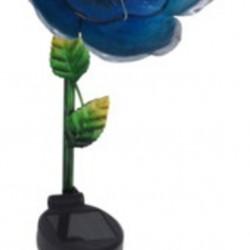 Lampa de gradina Flower, 15.5x11x81 cm, metal, albastru