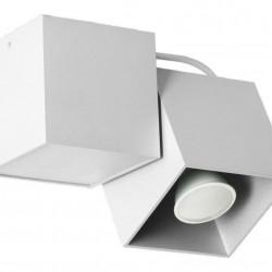 Lampa de tavan Lampex, Kraft 1 White, GU10, 40W