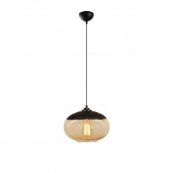 Lustra Camini MR - 867, Opviq, 25 x 113 cm, 1 x E27, 100W, negru/honey