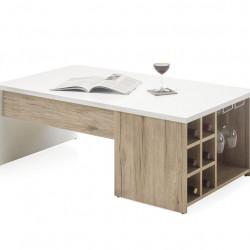 Masuta pentru bar, Merlot, 110 x 41.5 x 60 cm, PAL, bej/alb