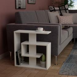 Masuta pentru living, Homitis, Saly - White, 20x55x57 cm