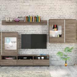 Mobilier living, Bedora, City 6027, 320 x 40.5 x 175 cm, PAL, maro