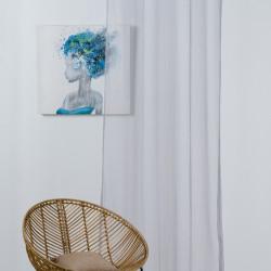 Perdea Mendola Interior, Alicante, 140x245 cm, poliester, gri